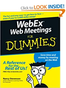 WebEx Web Meetings For Dummies Nancy Muir
