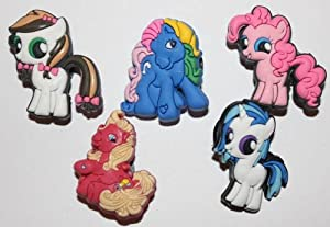 My Little Pony Shoe Charms Set of 5 - Jibbitz / Croc Style