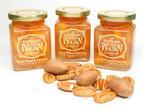 Peach Pecan and Amaretto Preserves - 3 Pk, By
