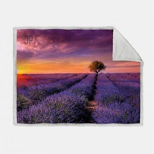 Plaid Lavander Sunset 130x160 CALEFFI