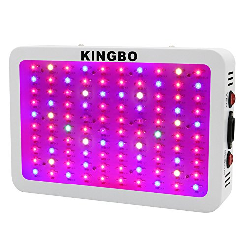 KINGBO 300W LED Grow Light Full Spectrum for Indoor Plants Veg and Bloom, Hydroponic Garden Greenhous Grow light. (9-Band, 3W/LED) (Mars Ii 400w Led Grow Light compare prices)