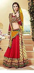 Krisha print Silk with Kachchi Emroidery work Enthnicwear Treaditionalwear Lengha choli suit