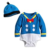 Disney Store Donald Duck Halloween Costume Bodysuit & Hat Size 3 - 6 Months