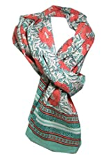 Anokhi 100% Cotton Voile Sea Flower Fashion Scarf *New for Spring