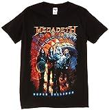 LoudClothing Men's Megadeath-Super Collider Photo Short Sleeve T-Shirt