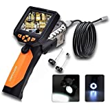 DBPOWER Endoscope Inspection Camera with 3.5 Inch LCD Monitor 8.2mm Diameter 2 Meters Tube