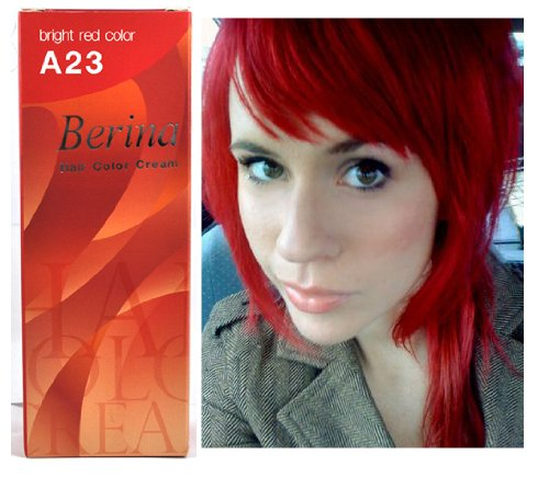 Bright Red Hair Dye Color Cream Permanent Goth