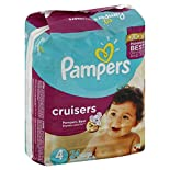 Pampers Cruisers Diapers, Size 4 (22-37 lb), Sesame Street, Jumbo, 31 ct.