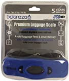 Balanzza MINI USB Rechargable Digital Luggage Scale Capacity with Backlight Display, BZ400U 5 years,Blue,One Size