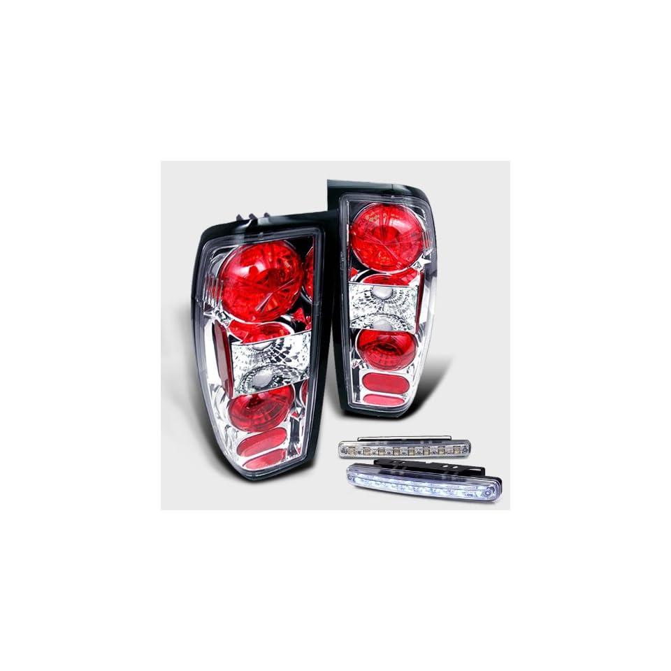 Eautolight 98 04 Nissan Frontier Brake Tail Lights + LED Bumper Fog Brand New Left + Right Set