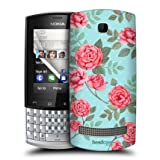 Head Case Flowers In Blue Nostalgic Rose Pattern Back Case For Nokia Asha 303