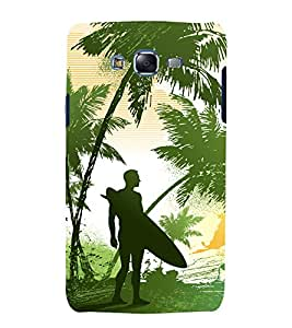 printtech Nature Surfer Beach Back Case Cover for Samsung Galaxy E7 / Samsung Galaxy E7 E700F