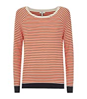 Joie Calaya Long Sleeve Top in Spicy Orange and Parchment