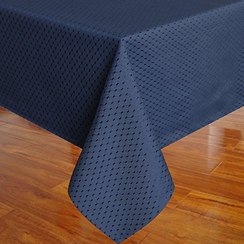 Eforcurtain shabby chic waffle weave fabric table cover for 102 inch table runners