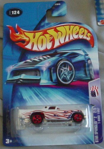 Hot Wheels 2004 Star Spangled 2 2/5 T-Bird 1957 #124 WHITE 1:64 Scale - 1