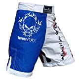 TurnerMAX MMA Shorts for MMA fight Kickboxing Training Grappling and Cage fighting Red Blue