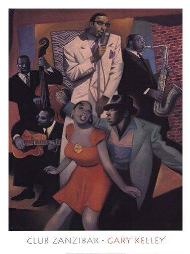 Club Zanzibar High Quality Museum Wrap Canvas Print Gary Kelley 24X32
