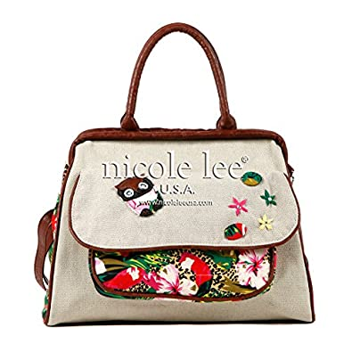 ACELIN TROPICAL DOCTOR BAG (BEIGE): Handbags: Amazon.com