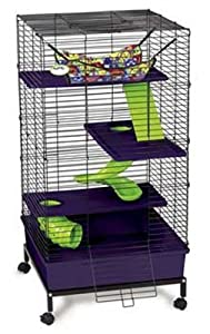 Super Pet My First Home Deluxe Multi-Level Pet Home with Casters
