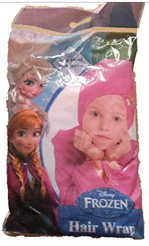 Disney Frozen - Asciugamano a fascia per capelli, adatto per il bagno, la doccia o il nuoto, da bambina, colore: fucsia, motivo: Anna