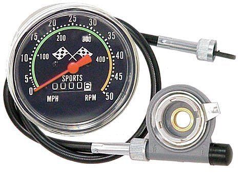 AceList Old School Style Bicycle Speedometer Fits 26-27in. Wheels