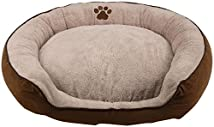 Brinkmann Pet Products Stepover Bolster Cord Pet Bed 36-Inch Tan