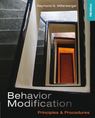 Behavior modification miltenberger 5th edition