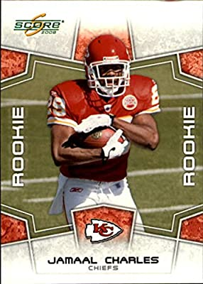 2008 Score Football Card # 384 Jamaal Charles (RC - Rookie Card) RB - Kansas City Chiefs - NFL Trading Card