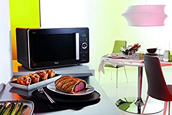 whirlpool jq 278 sl mikrowelle mit grill und hei luft 2100 w 30 l garraum 3d system. Black Bedroom Furniture Sets. Home Design Ideas