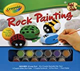 Andrea Labat Crayola Rock Painting [With 5 Glitter Glue Tubes, 10 POM-Poms, 1 Paint Palette and Paint Brush and 18-Count Washable Kids (Crayola Artist Studio)