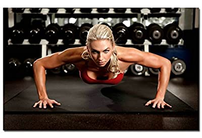 Bodybuilding Fitness Motivational Art Silk Poster 24x36 inches Sexy Girl