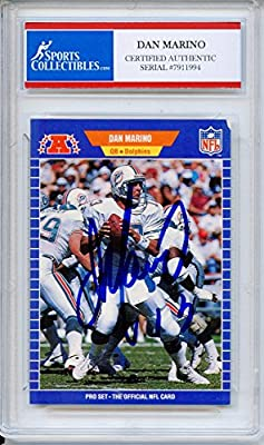 Dan Marino Autographed Miami Dolphins Encapsulated Trading Card - JSACertified Authentic