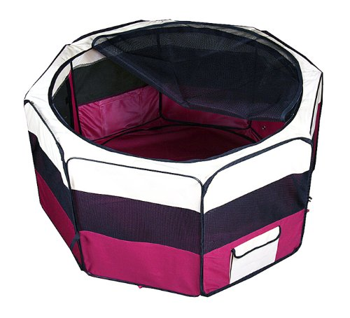 New Delux Pet Dog Xl Green Playpen Kennel Exercise Pen Crate (Red, 48 Inch)