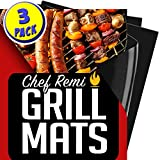 Chef Remi Non-Stick Grilling Mats, 16-Inch-by-13-Inch, Set of 3