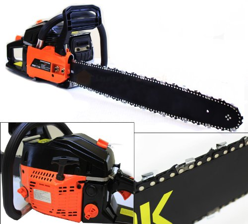 """New 22"""" Gas Chainsaw Wood Cutter W Electronic Ignition Power Equipment 2.4Hp"""
