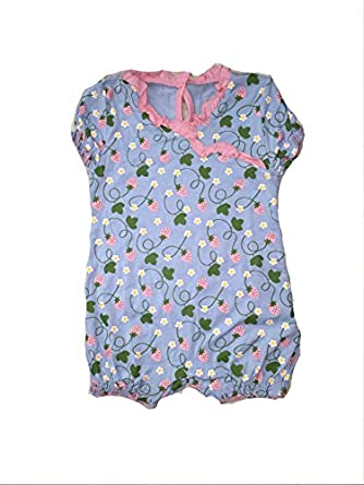 KicKee Pants Baby Girls' Print Ruffle Romper (Baby) - Pond Strawberry
