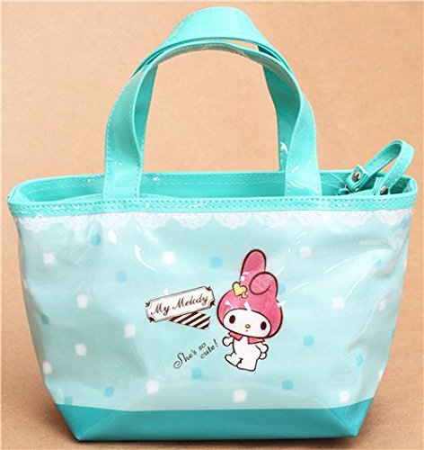 turquoise My Melody lunch bag thermal bag from Japan sa212 saddle bag motorcycle side bag helmet bag free shippingkorea japan e ems