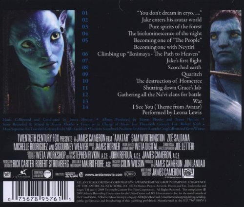 avatar music from the motion picture music composed and