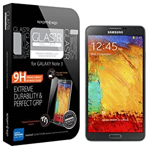 Galaxy Note 3 Screen Protector, Spigen® Samsung Galaxy Note 3 Screen Protector Glass [GLAS.tR SLIM] Rounded Edges Tempered Glass Screen Protector Clear for Galaxy Note III - GLAS.tR SLIM