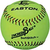 Easton A122608 11 Inch Neon Yellow Softstitch Incrediball Softball (Sold in Dozens)