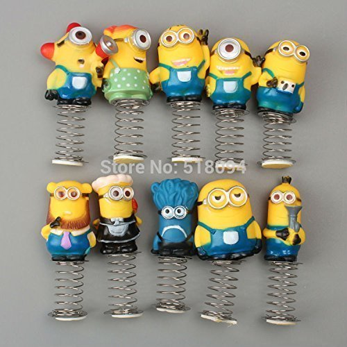 Anime Cartoon Despicable Me Minions PVC Figure Toys Dolls Spring Toys 10pcs/set Christmas Gifts Child Toys
