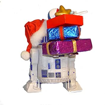 #!Cheap Kurt Adler Star Wars Fabriche Santa R2D2