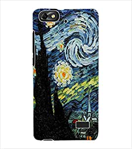 ColourCraft Abstract Art Design Back Case Cover for HUAWEI HONOR 4C