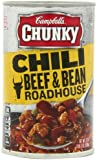 Campbell's Chunky Roadhouse Beef & Bean Chili, 19 Ounce Cans (Pack of 12)