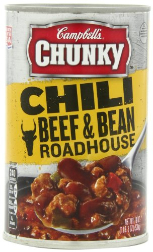 Campbell's Chunky Chili, Beef & Bean Roadhouse, 19 Ounce (Pack of 12)