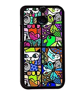 ifasho Designer Phone Back Case Cover HTC One M8 :: HTC M8 :: HTC One M8 Eye :: HTC One M8 Dual Sim :: HTC One M8s ( Skull Look Rock Star Look Theme )