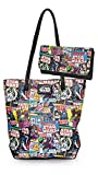 Loungefly Star Wars Colorful Comic Tote Bag Purse & Wallet Set