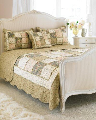 Avignon Bedspread Colour: Beige, Size: Double