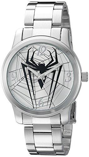 Marvel Spider-Man Men's W002547 Spider-Man Analog Display Analog Quartz Silver Watch