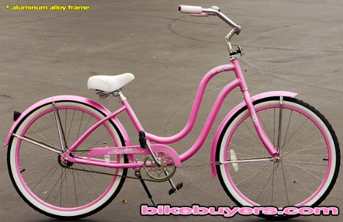 Anti-Rust Aluminum frame, Fito Verona Alloy 1-speed Pink Women's Beach Cruiser Bike Bicycle Micargi Schwinn Nirve Firmstrong style